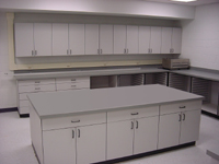 Image of Darkroom cabinets.
