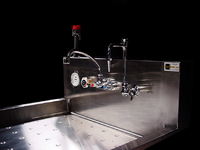 Image of Stainless Steel Tray Sink - Chrome Plated fixture..